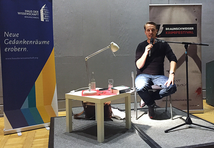Timo Leibig beim Braunschweiger Krimifestival 2018