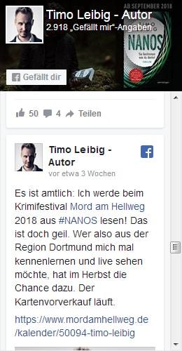 Timo Leibig auf Facebook!