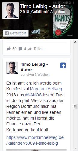 Timo Leibig bei Facebook
